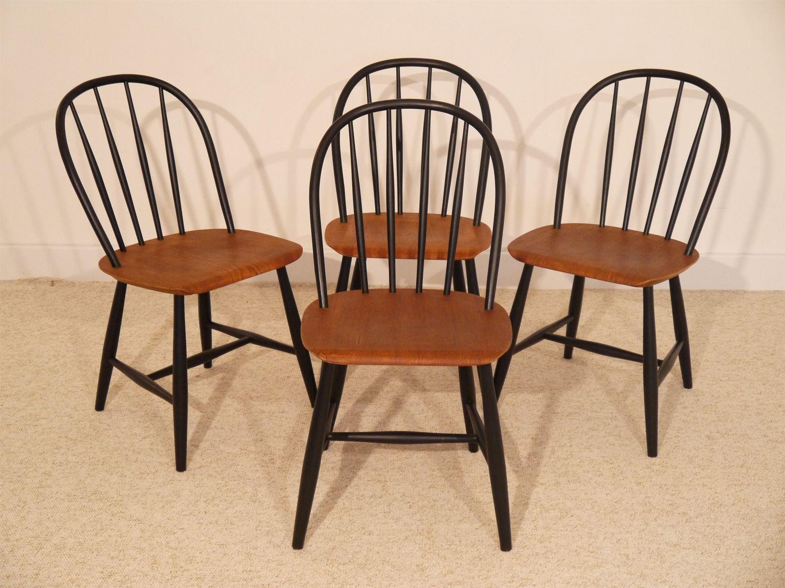 schwedische st hle von nesto 1960er 4er set bei pamono kaufen. Black Bedroom Furniture Sets. Home Design Ideas