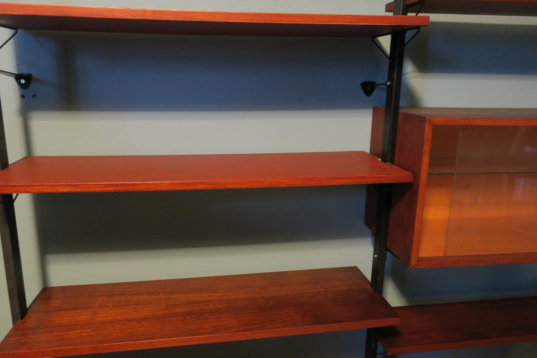 danish modern modular teak wall unit, 1960s for sale at pamono