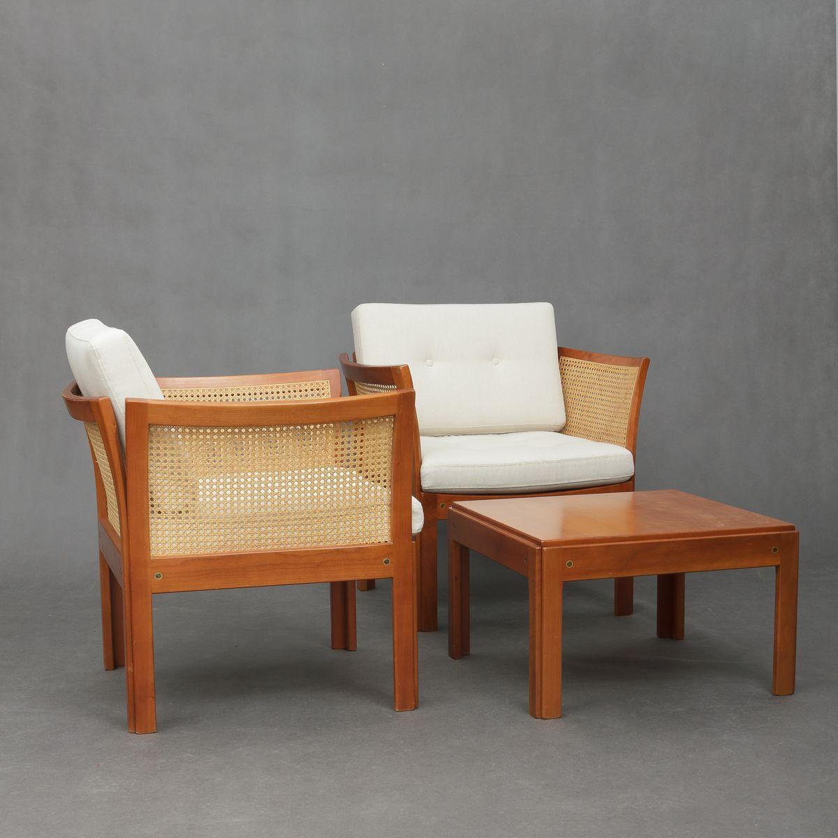 plexus sessel beistelltisch von illum wikkelso f r cfc silkeborg 1970er bei pamono kaufen. Black Bedroom Furniture Sets. Home Design Ideas