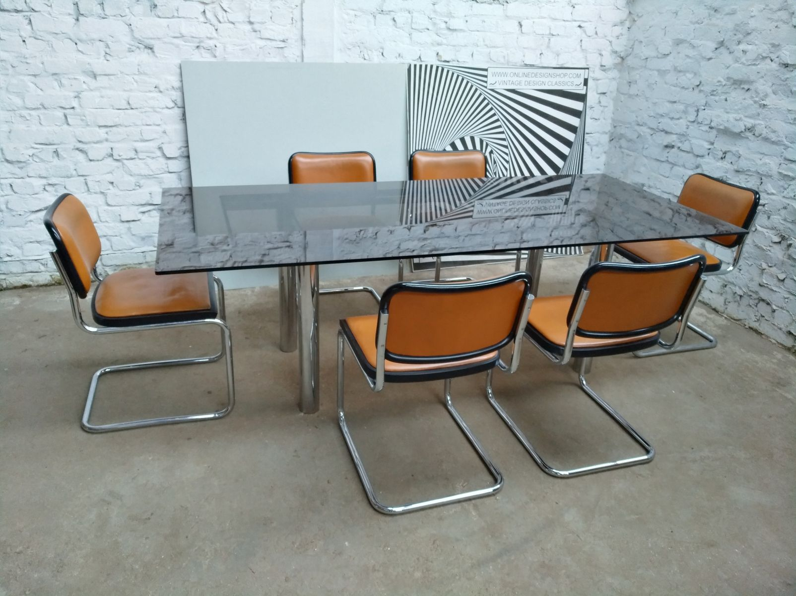 Cesca Chairs by Marcel Breuer for Gavina 1960s Set of 6 for sale
