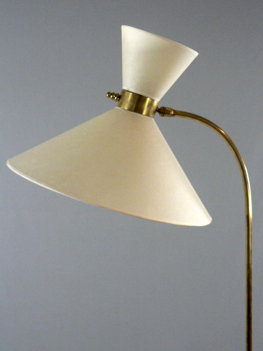 diabolo messing stehlampe 1950er bei pamono kaufen. Black Bedroom Furniture Sets. Home Design Ideas