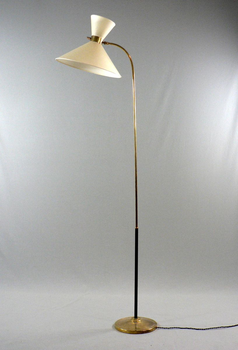 Diabolo brass floor lamp 1950s for sale at pamono for 1950 s brass floor lamp