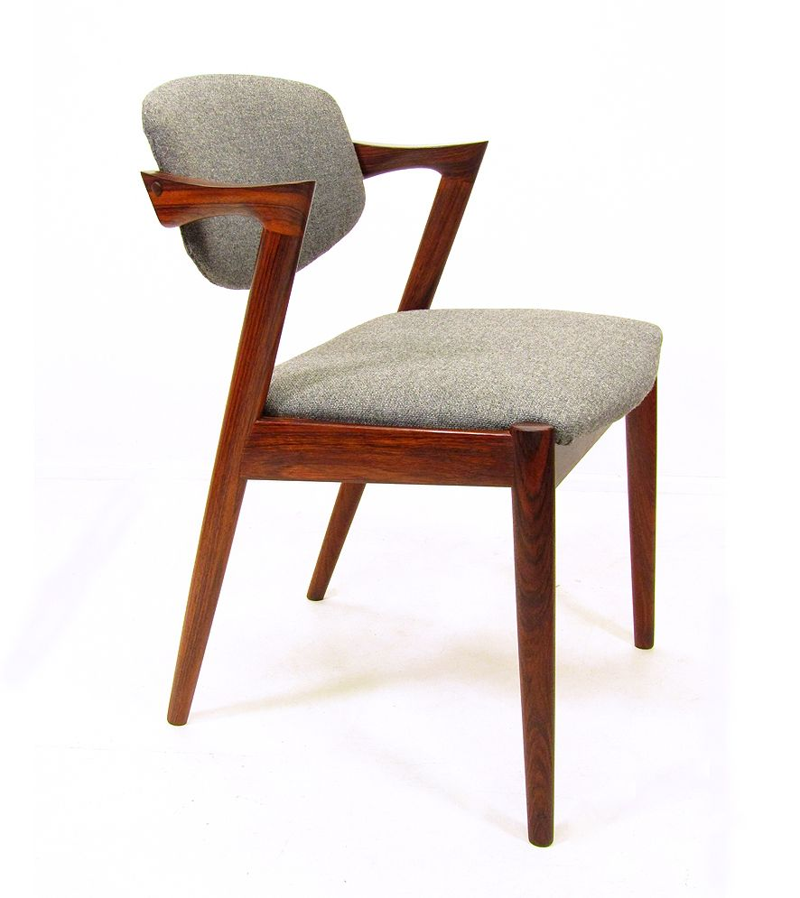 Model 42 rosewood chairs by kai kristiansen for schoe andersen 1960s set of 6 for sale at pamono - Kai kristiansen chairs ...