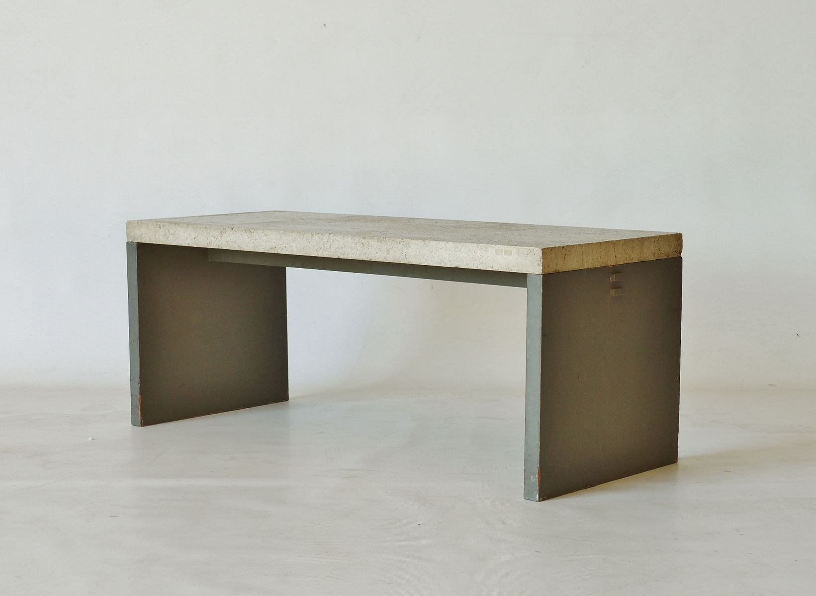 vintage dutch minimalist marble topped table for sale at. Black Bedroom Furniture Sets. Home Design Ideas