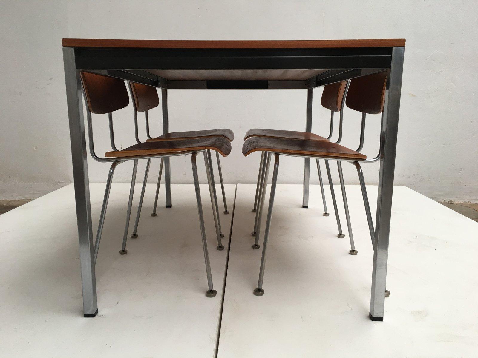 modell 1263 st hle und esstisch von a r cordemeyer f r gispen 1960er bei pamono kaufen. Black Bedroom Furniture Sets. Home Design Ideas