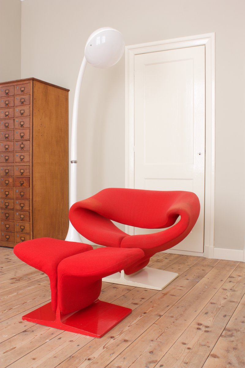Ribbon Chair With Ottoman By Pierre Paulin For Artifort