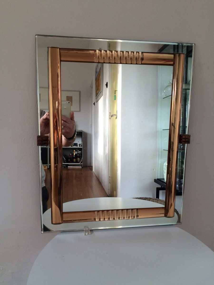 franz sischer vintage spiegel aus antikem glas bei pamono. Black Bedroom Furniture Sets. Home Design Ideas