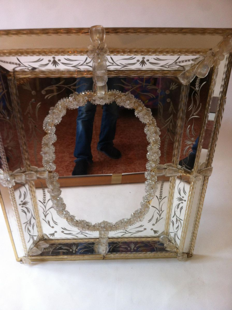 Vintage Venetian Murano Glass Mirror For Sale At Pamono