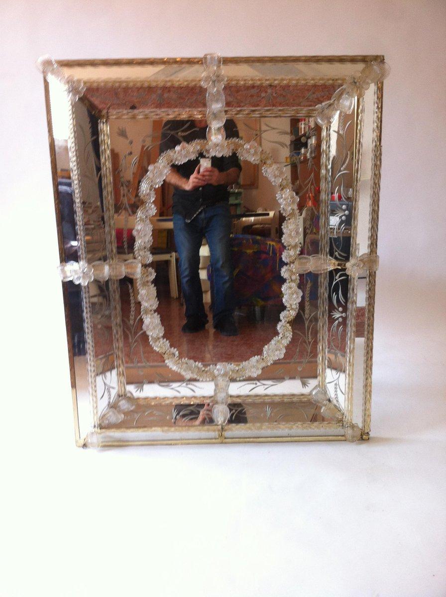 vintage venetian murano glass mirror for sale at pamono. Black Bedroom Furniture Sets. Home Design Ideas