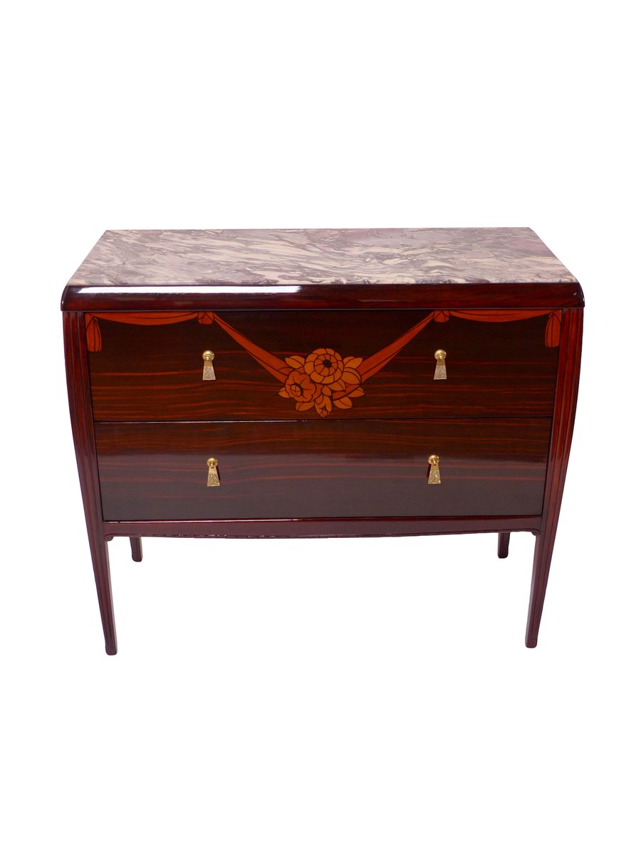art deco macassar commode 1920s for sale at pamono. Black Bedroom Furniture Sets. Home Design Ideas