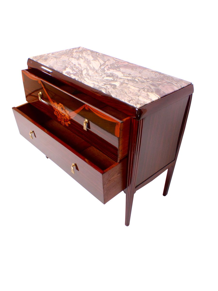 Art deco macassar commode 1920s for sale at pamono for Commode miroir art deco