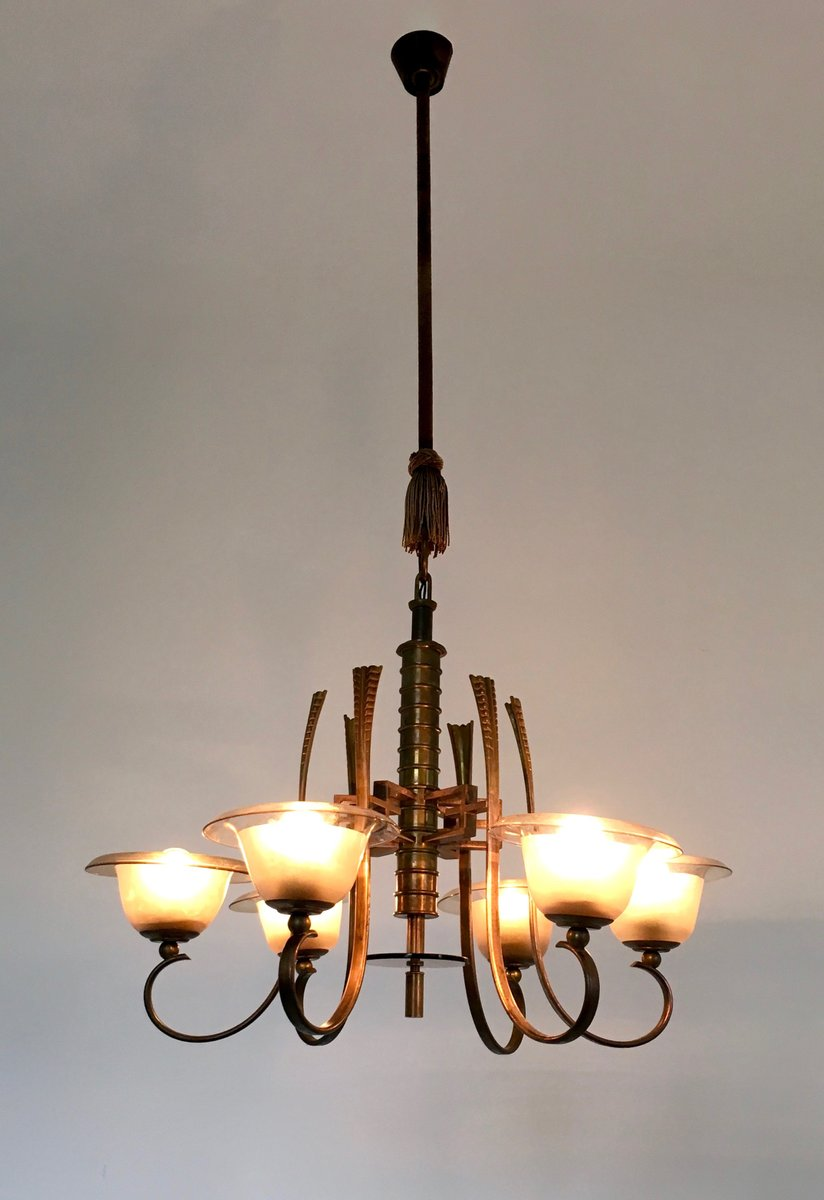 Murano blown glass chandelier 1930s for sale at pamono Blown glass chandelier