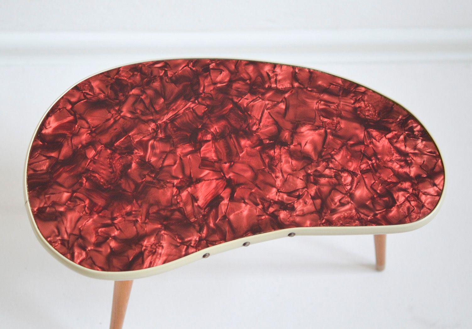 Vintage Pearloid Kidney Coffee Table, 1960s - Vintage Pearloid Kidney Coffee Table, 1960s For Sale At Pamono