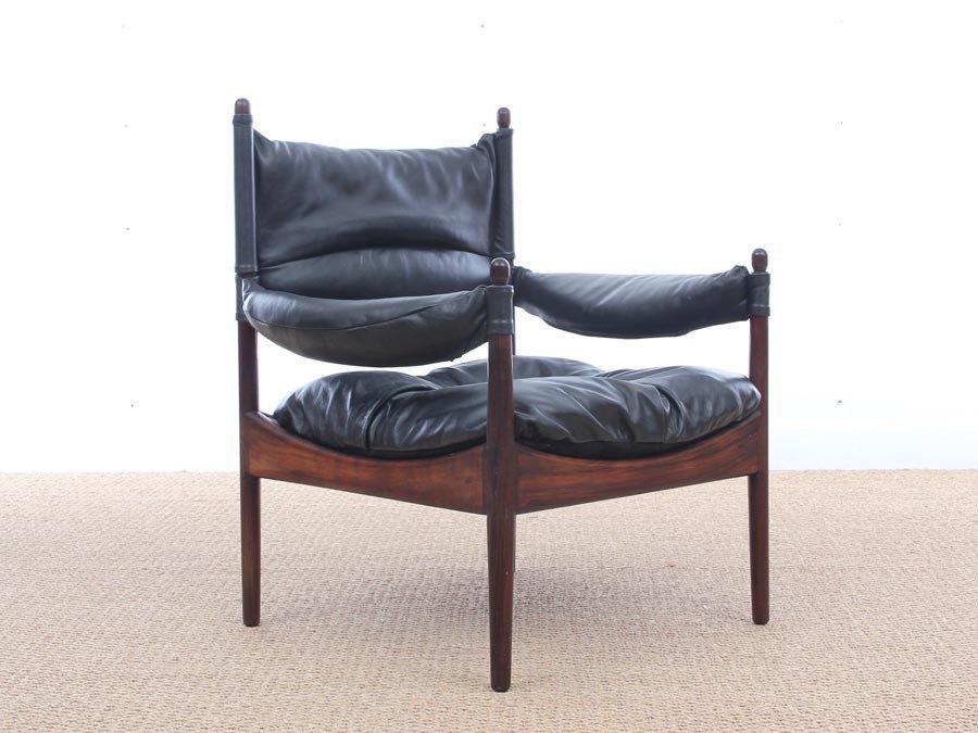 Mid Century Modern Danish Modus Lounge Chairs By Kristian Vedel For Soren  Willadsen, 1963, Set Of 2