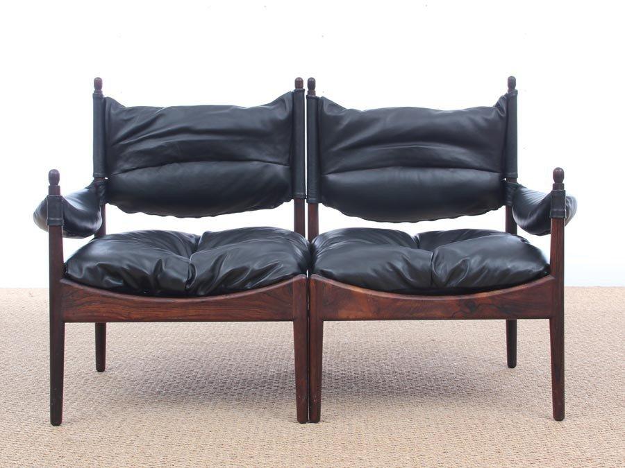 Mid Century Modern Danish Two Seater Sofa By Kristian Vedel For Soren  Willadsen, 1963