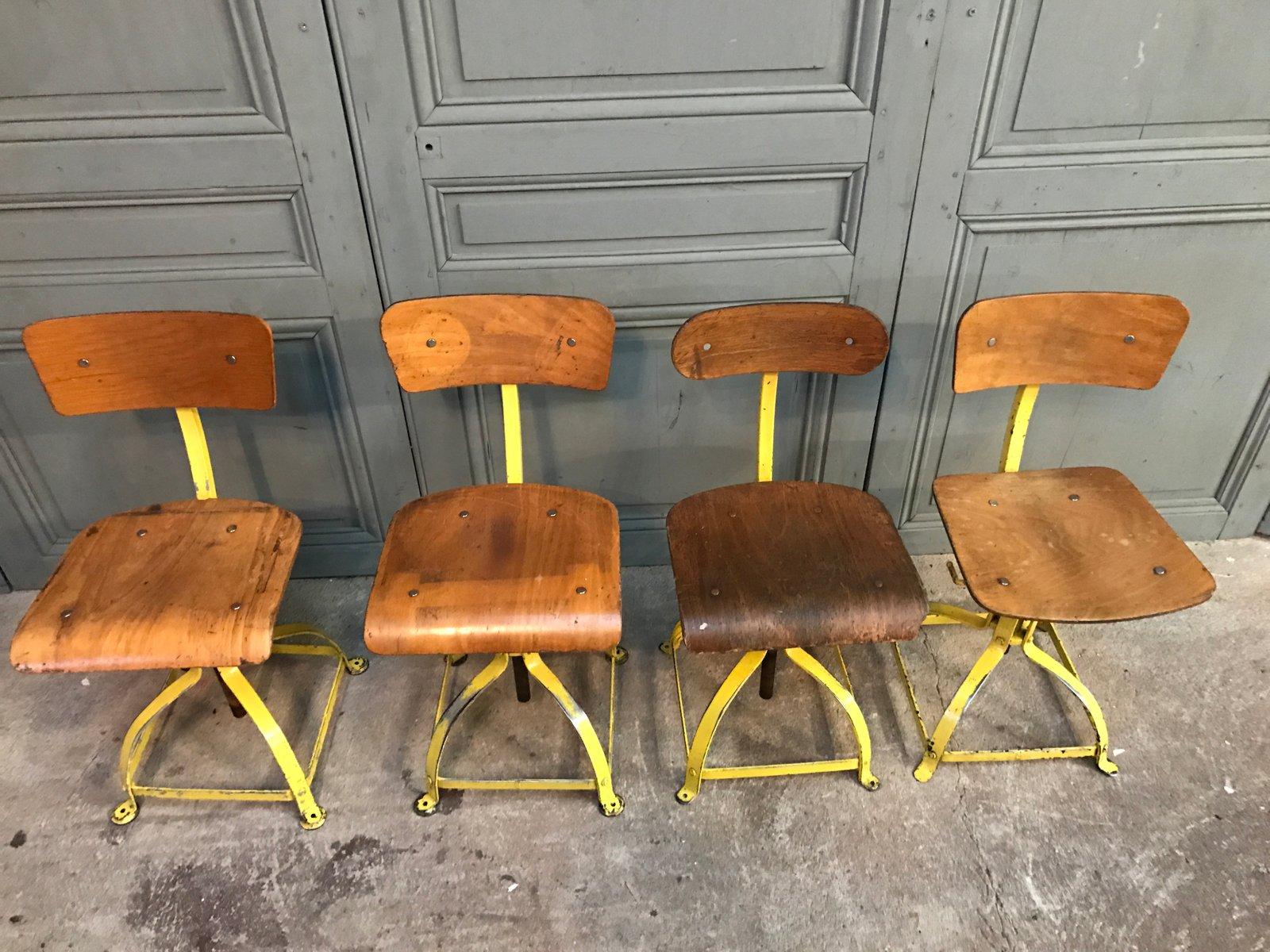 vintage schreibtischst hle von atelier bienaise 4er set. Black Bedroom Furniture Sets. Home Design Ideas