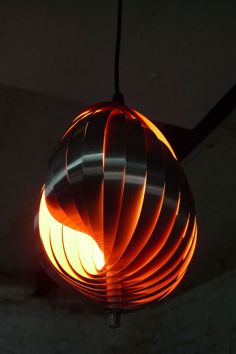 Suspension lamp by henri mathieu for lyfa 1970s for sale for Suspension a 3 lampes