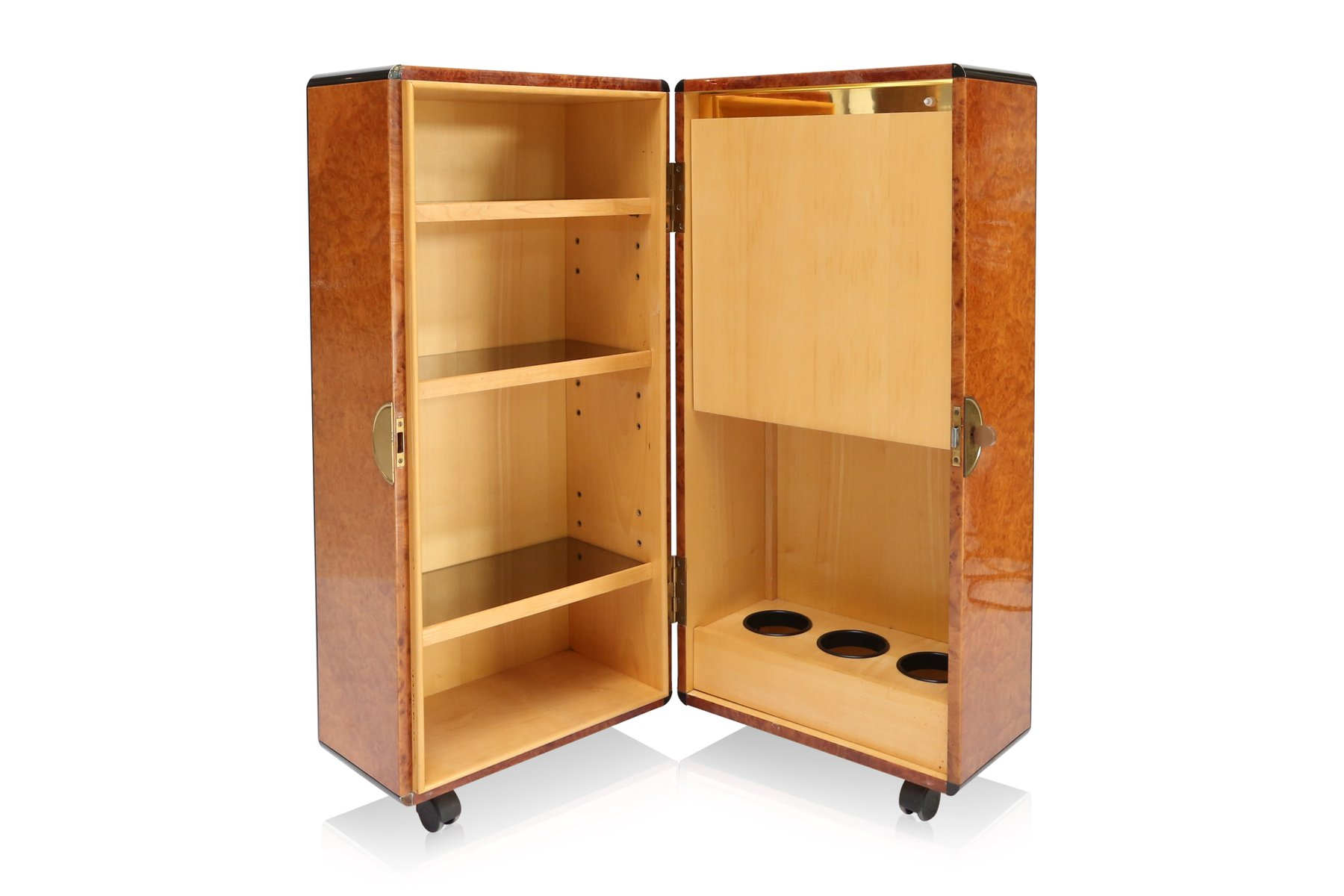 Burl cocktail cabinet 1970s for sale at pamono for Burl wood kitchen cabinets