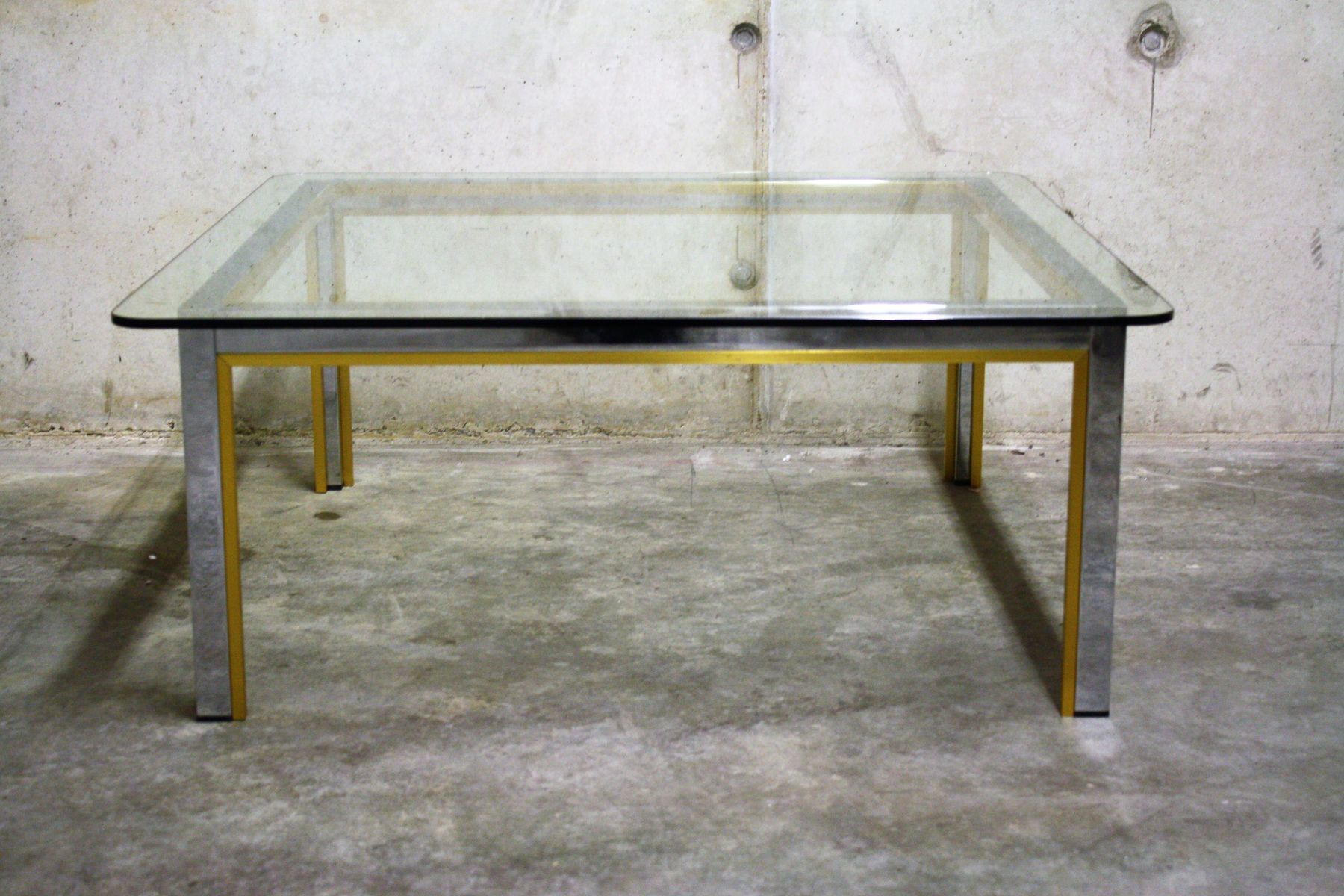 chrom messing couchtisch von romeo rega 1970er bei. Black Bedroom Furniture Sets. Home Design Ideas