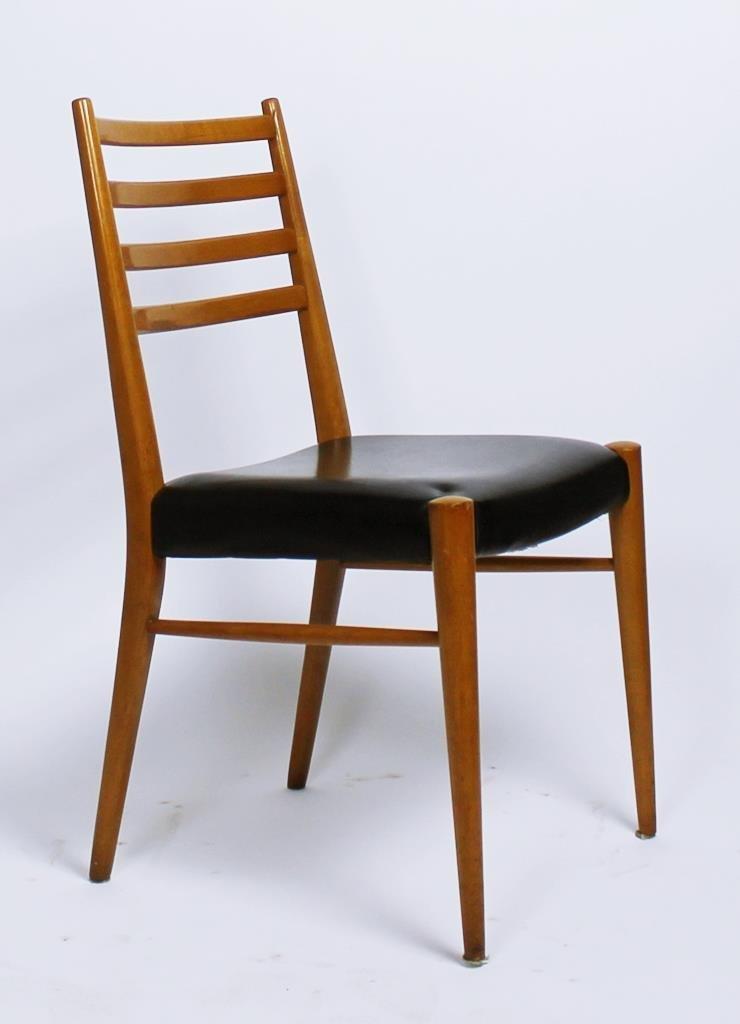 sterreichische st hle von wiesner hager 1950er 4er set. Black Bedroom Furniture Sets. Home Design Ideas
