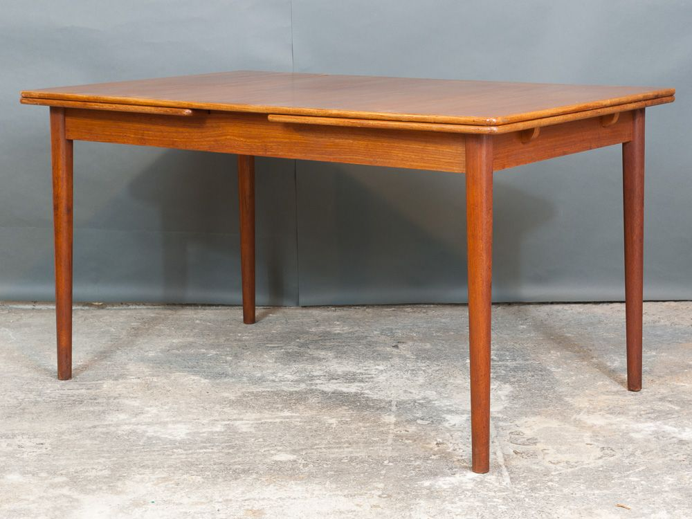 Danish Extendable Teak Dining Table by Nils Jonsson for Troeds, 1960s