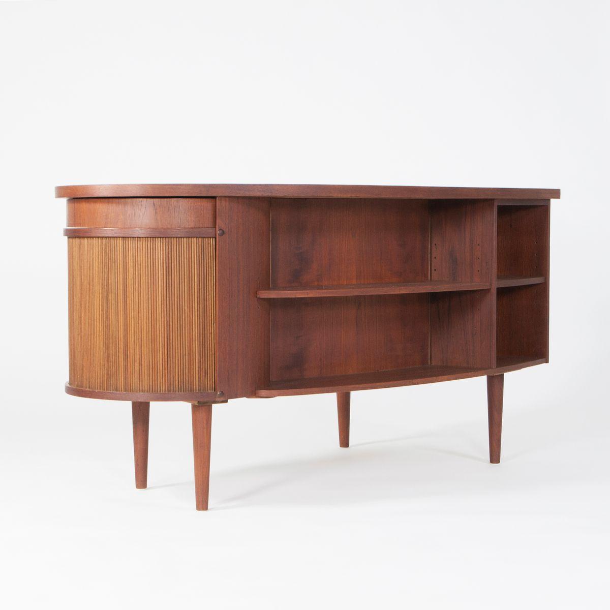 d nischer teak schreibtisch von kai kristiansen f r. Black Bedroom Furniture Sets. Home Design Ideas