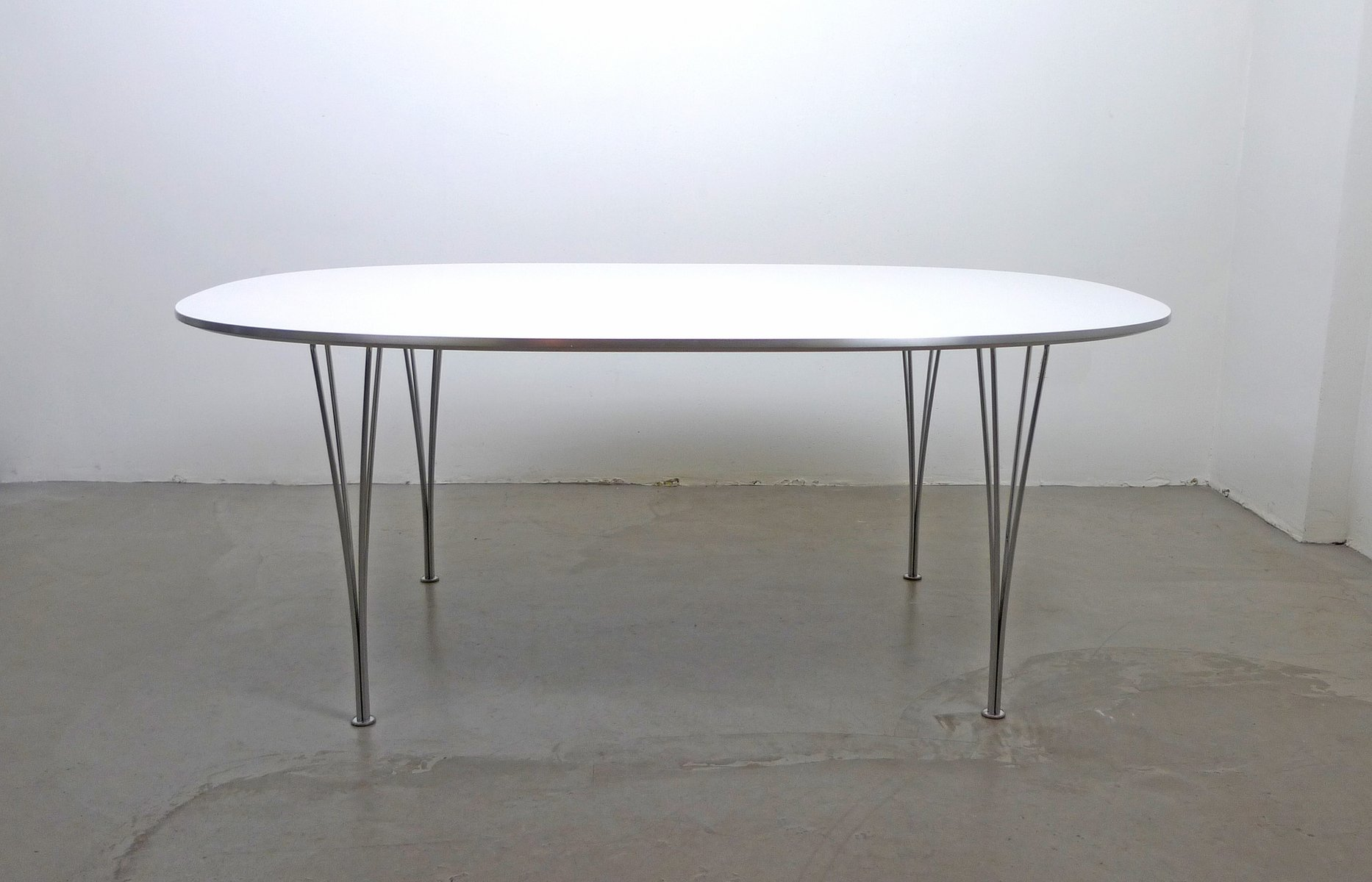 Scandinavian Modern Elliptical Table By Piet Hein, Bruno Mathsson And Arne  Jacobsen For Fritz Hansen, 1968 For Sale At Pamono
