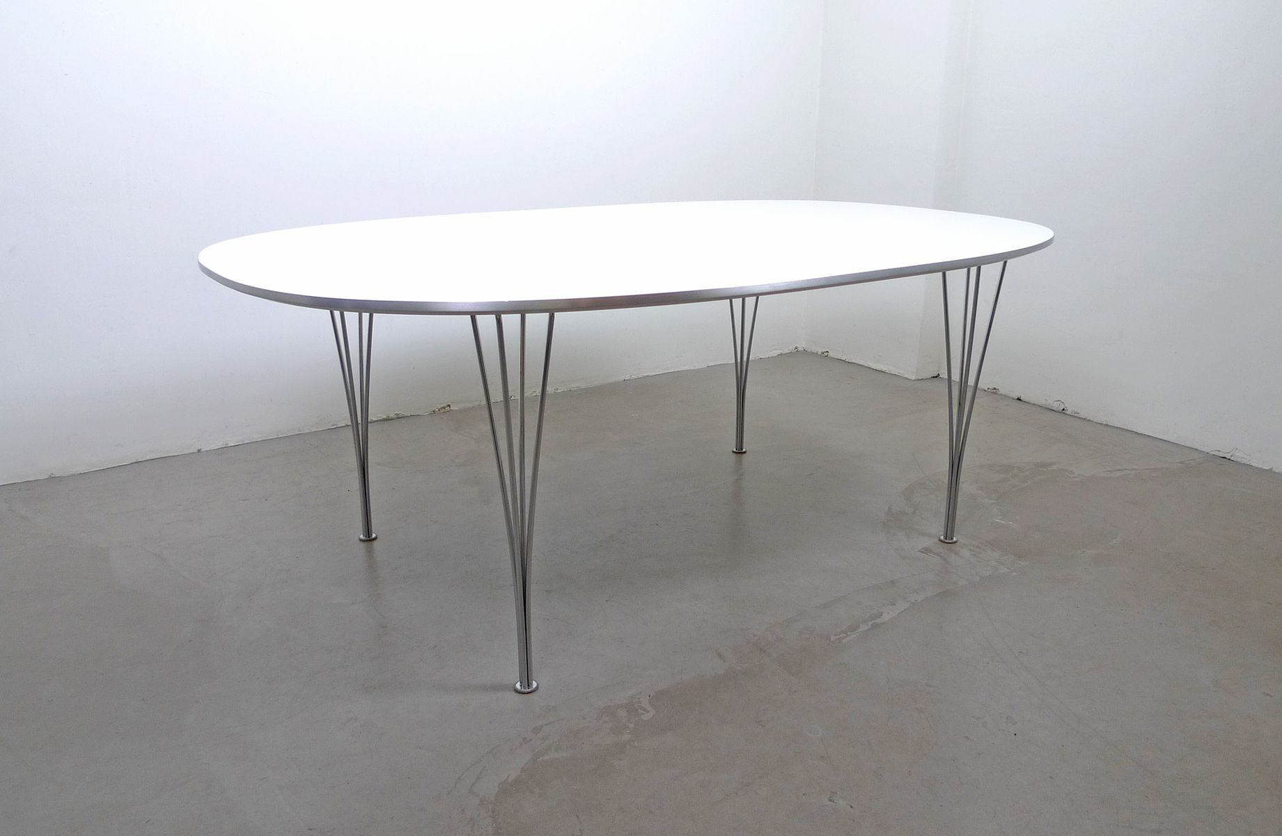Scandinavian Modern Elliptical Table By Piet Hein, Bruno Mathsson And Arne  Jacobsen For Fritz Hansen, 1968