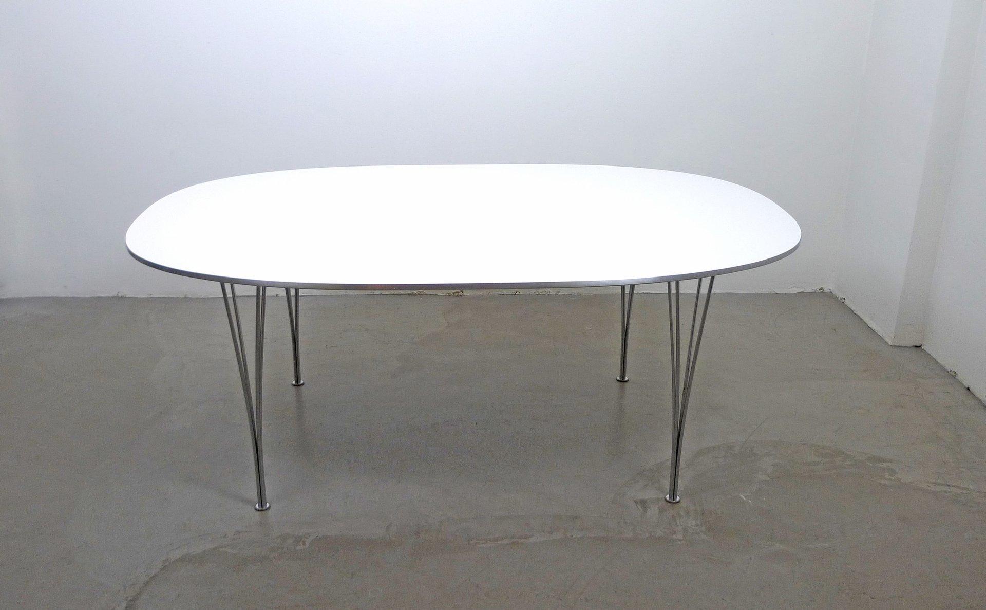 Scandinavian Modern Elliptical Table by Piet Hein Bruno Mathsson