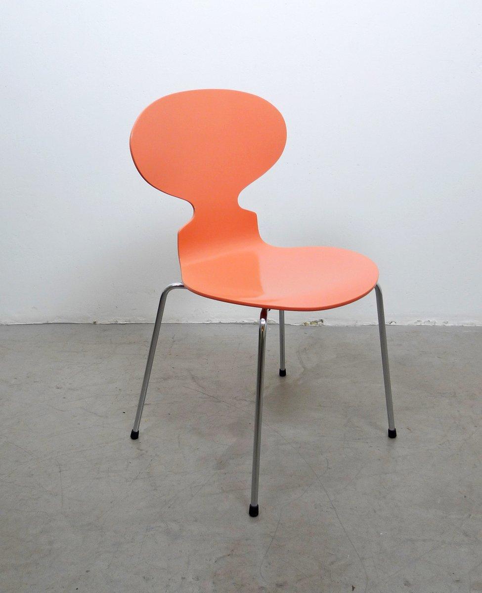 3101 ant stuhl in pfirsichfarben von arne jacobsen f r fritz hansen 1950er bei pamono kaufen. Black Bedroom Furniture Sets. Home Design Ideas