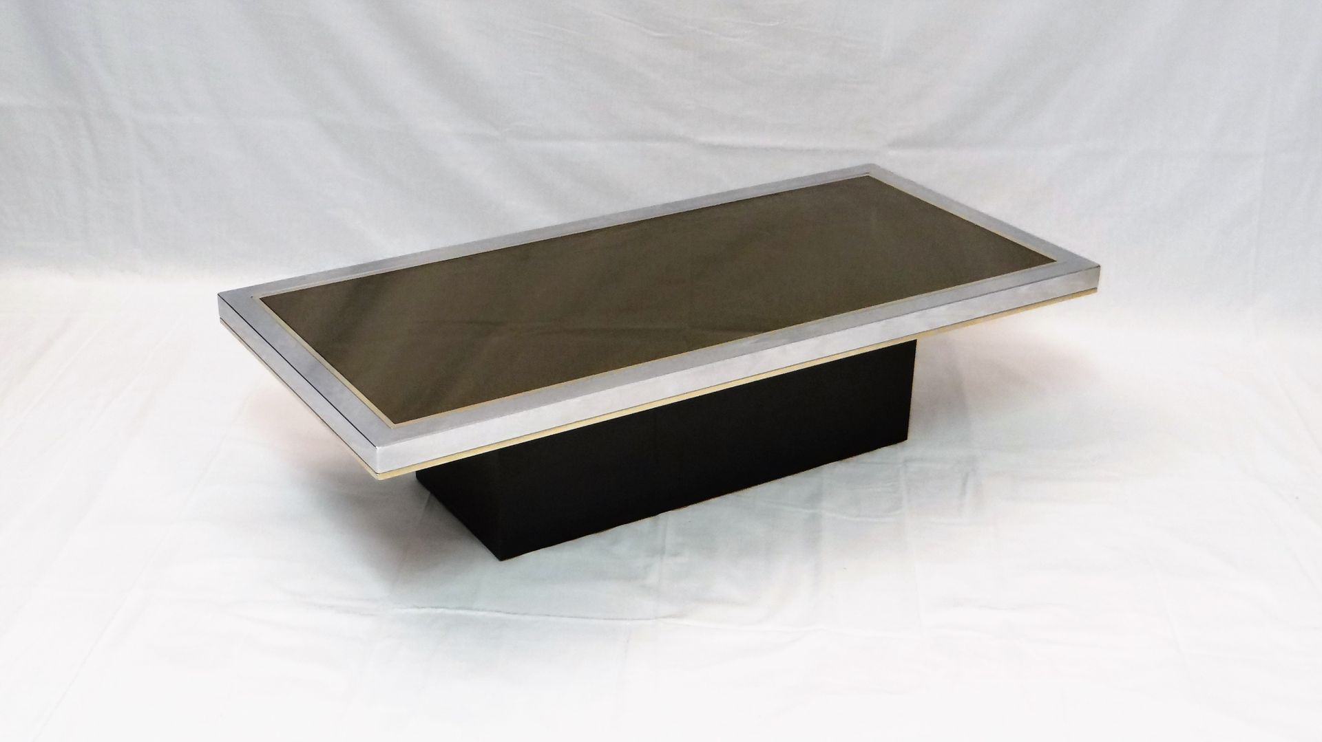Vintage Mirrored Coffee Table by Roger Vanhevel 1970s for sale at