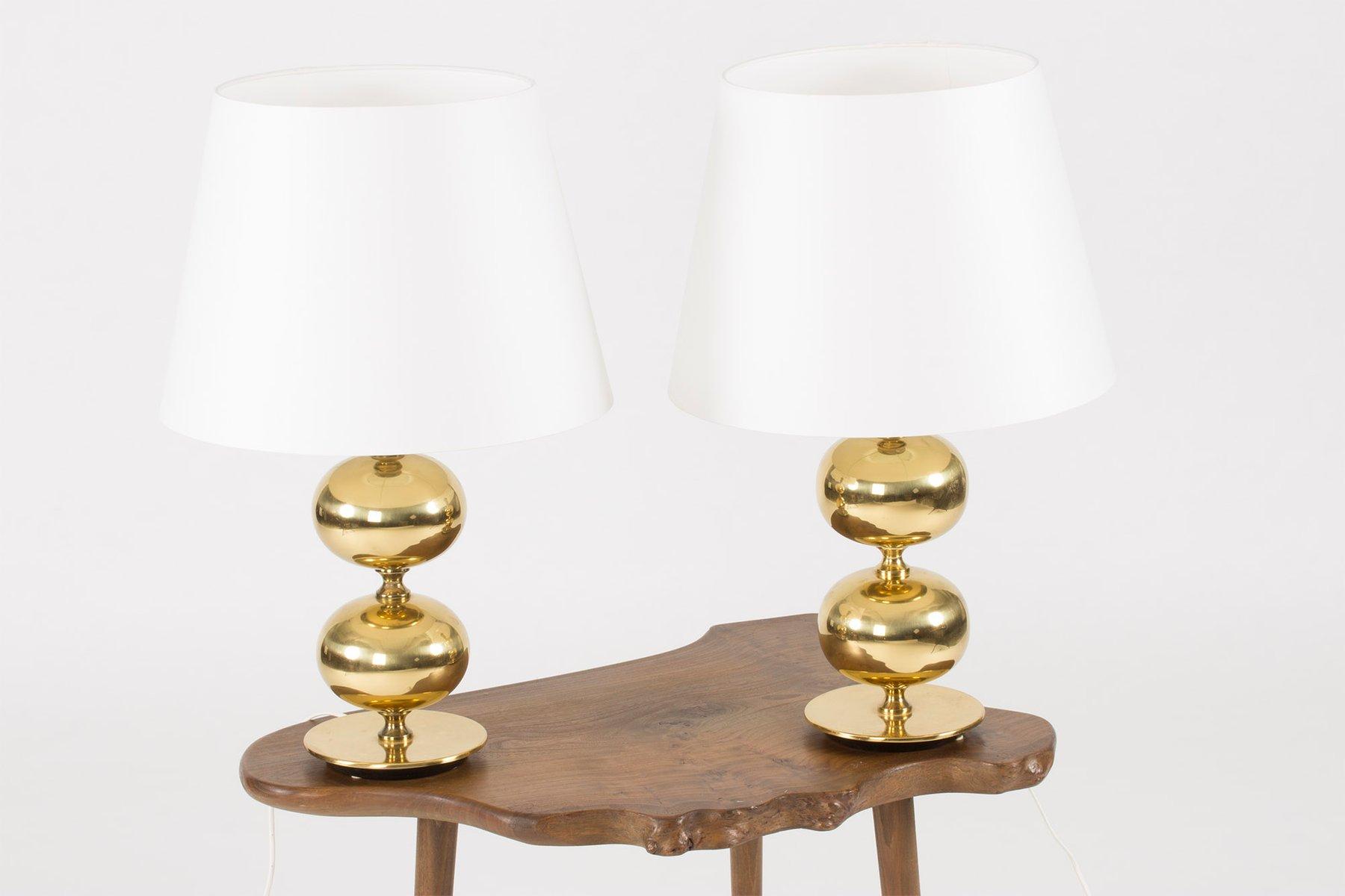Brass Table Lamps by Henrik Blomqvist for Trans Stilarmatur