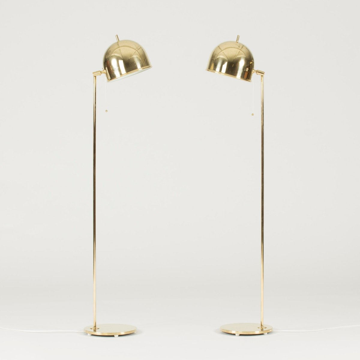 Brass floor lamps from bergboms 1950s set of 2 for sale for 1950s floor lamps