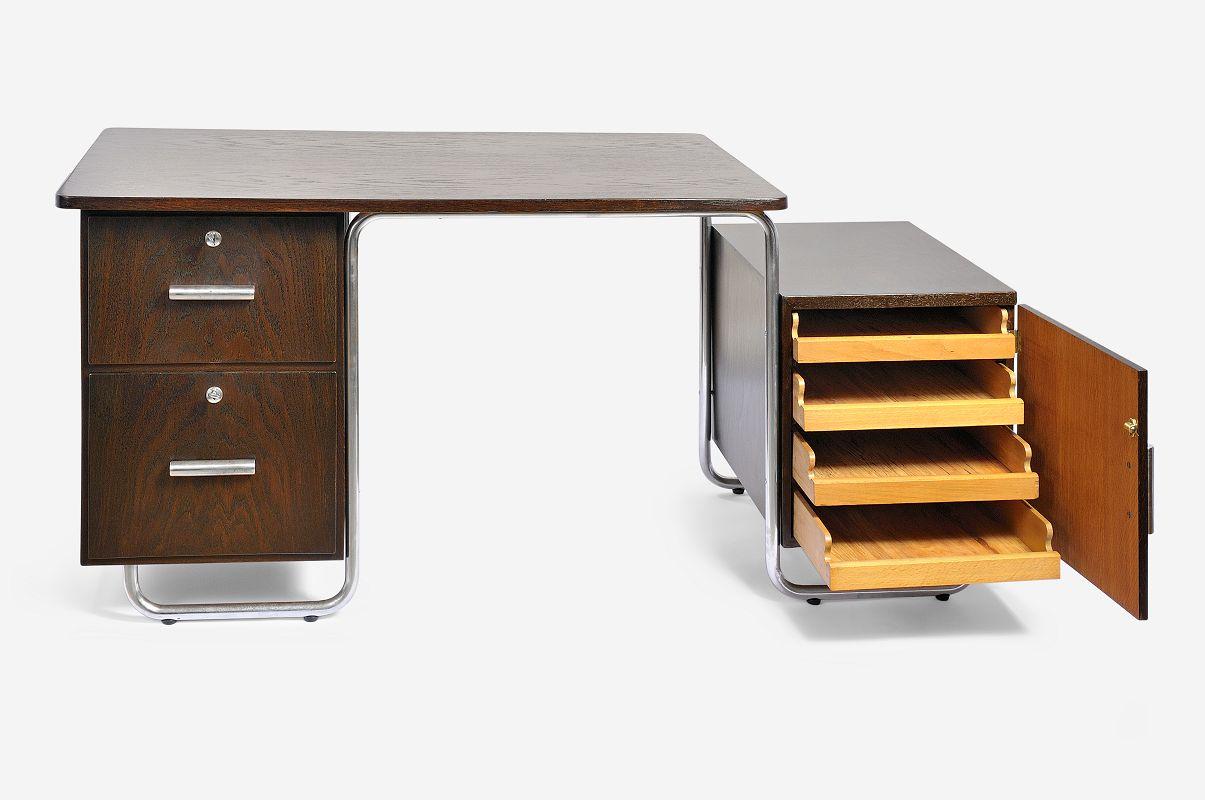 schreibtisch von bruno weil f r thonet 1935 bei pamono kaufen. Black Bedroom Furniture Sets. Home Design Ideas