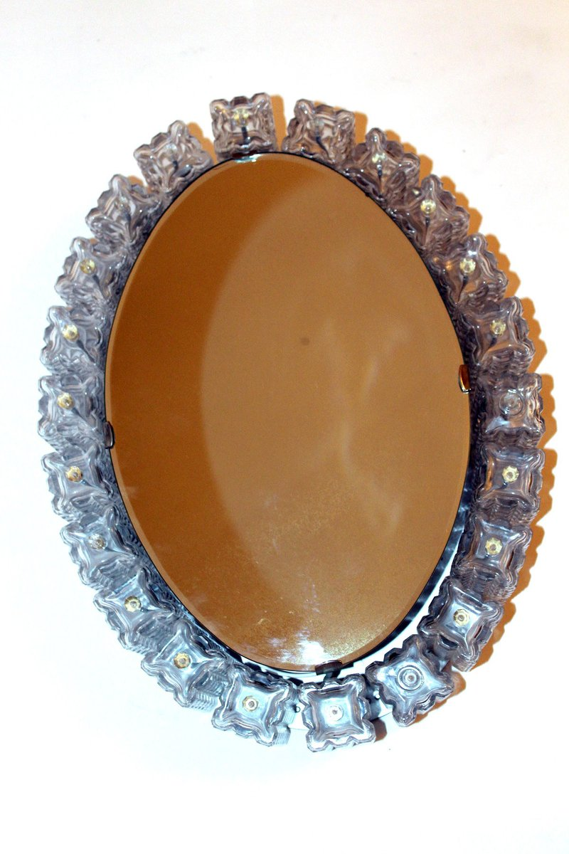 beleuchteter spiegel von st lzle 1960er bei pamono kaufen. Black Bedroom Furniture Sets. Home Design Ideas
