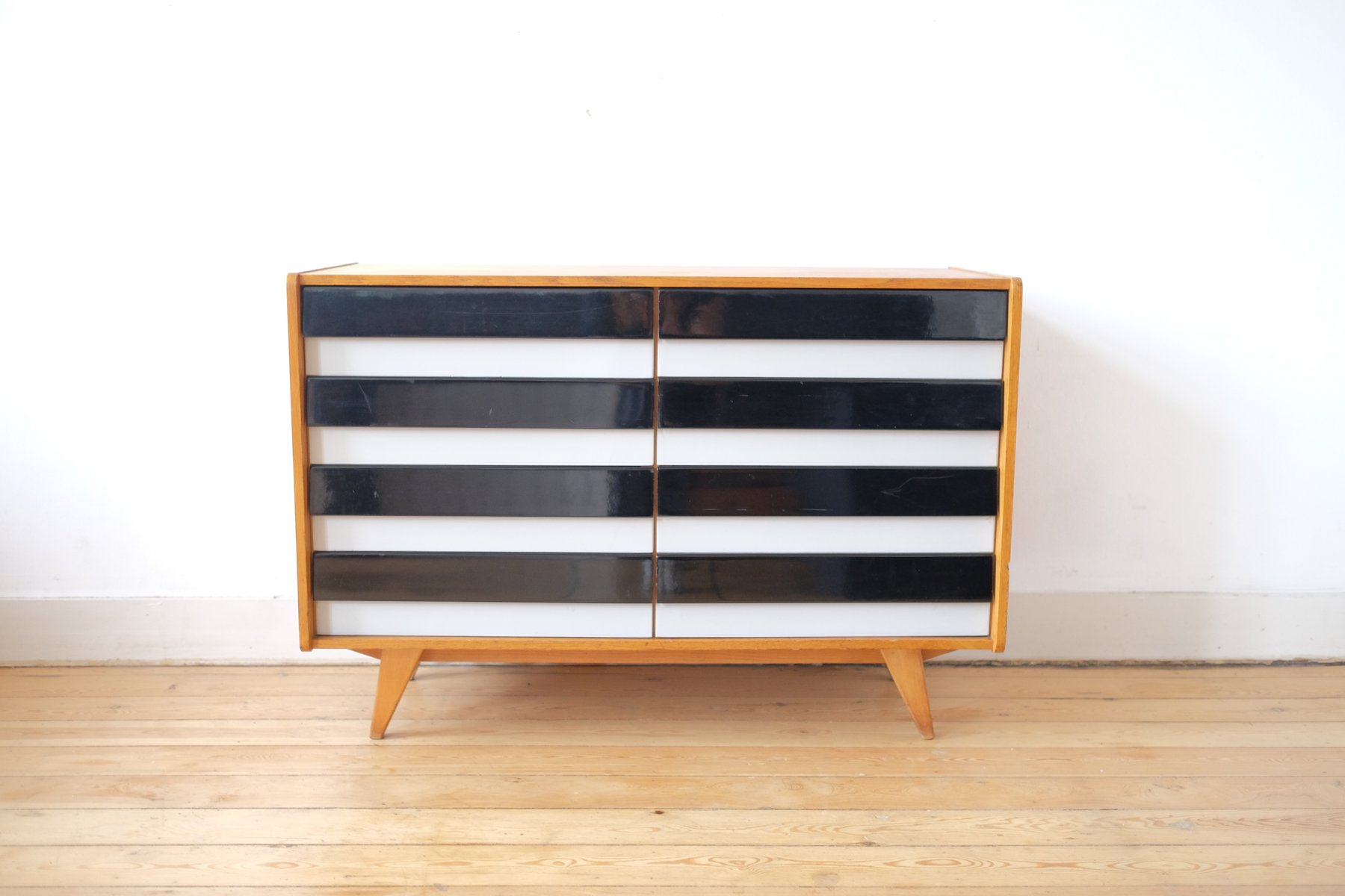 Black white sideboard by jiri jiroutek for interier for Sideboard qr