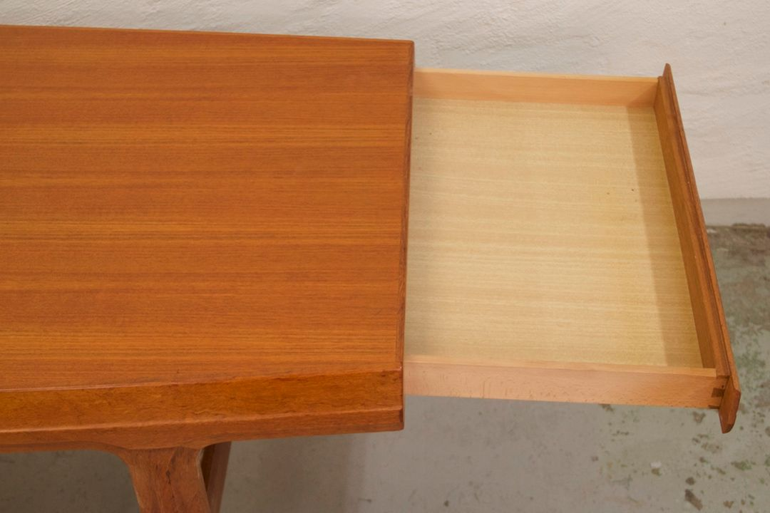 Mid Century Teak Coffee Table with Drawers by Johannes