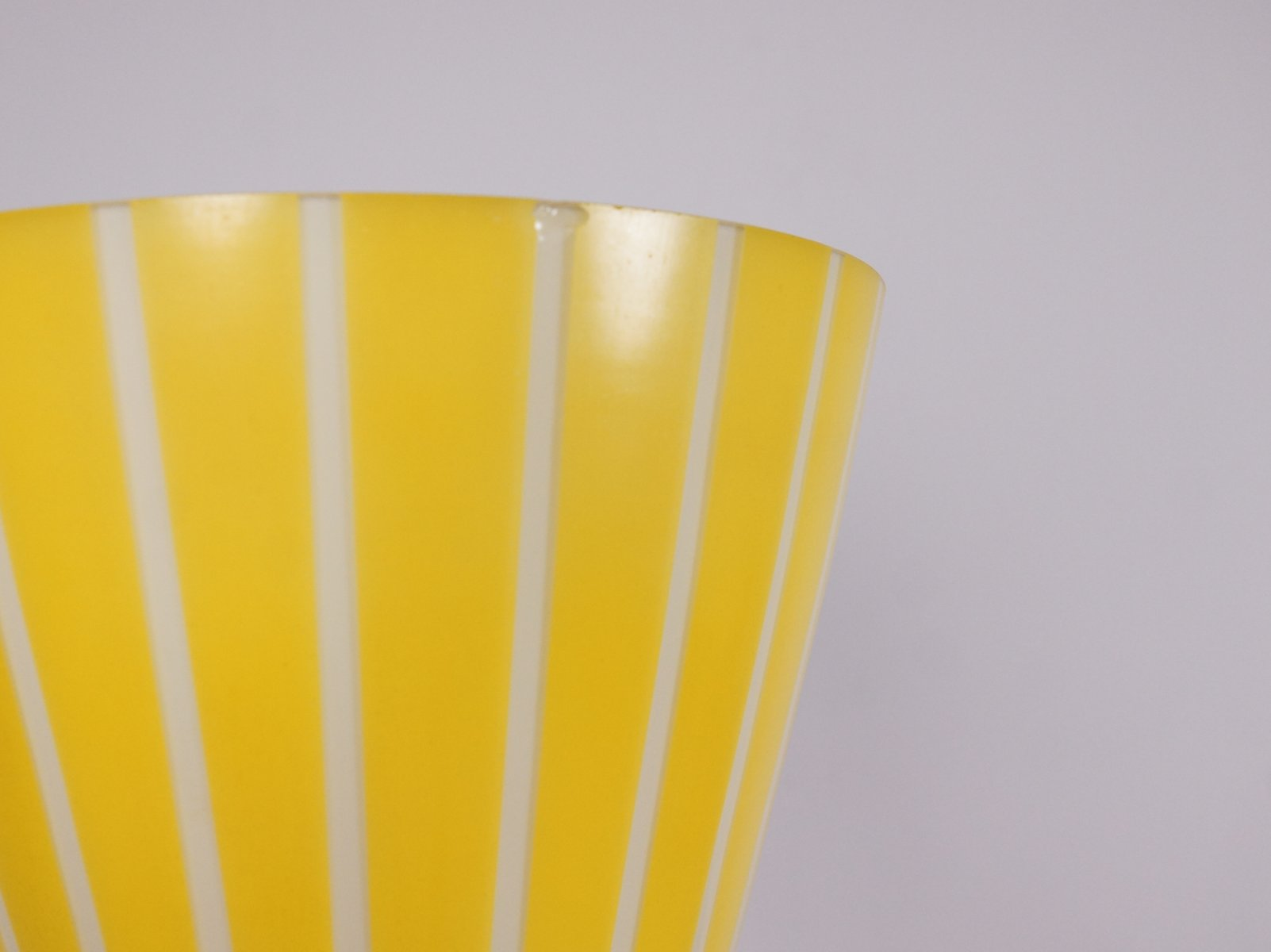 Floor Lamp With Yellow Glass Shade 1960s For Sale At Pamono