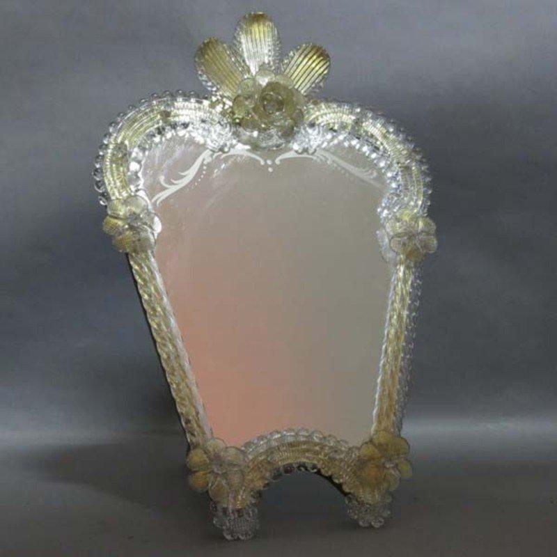 Italian murano glass standing mirror 1950s for sale at pamono for Standing glass mirror