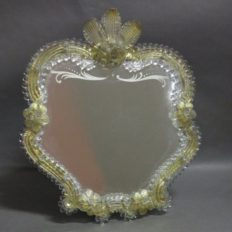 Murano glass standing mirror 1950s for sale at pamono for Standing glass mirror