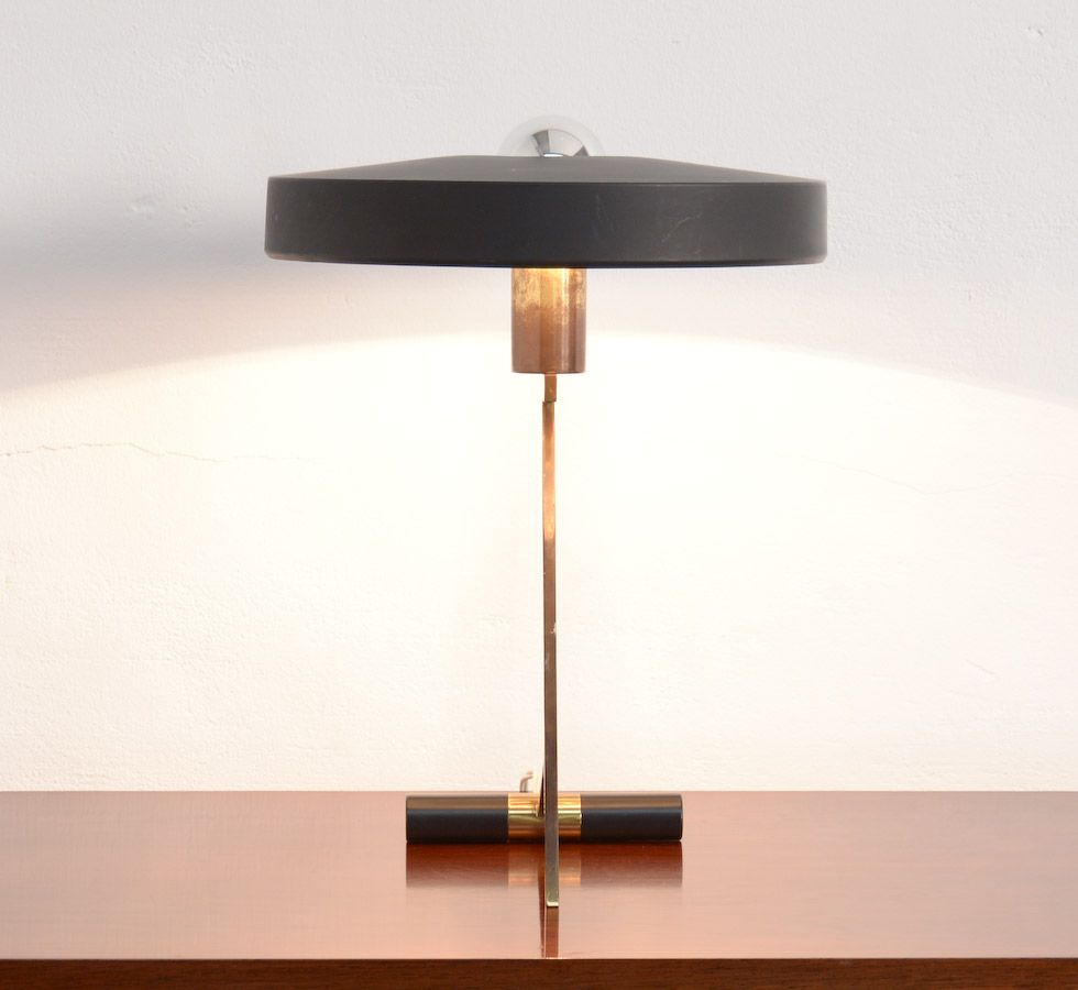 vintage schreibtisch lampe von l kalff f r philips bei pamono kaufen. Black Bedroom Furniture Sets. Home Design Ideas