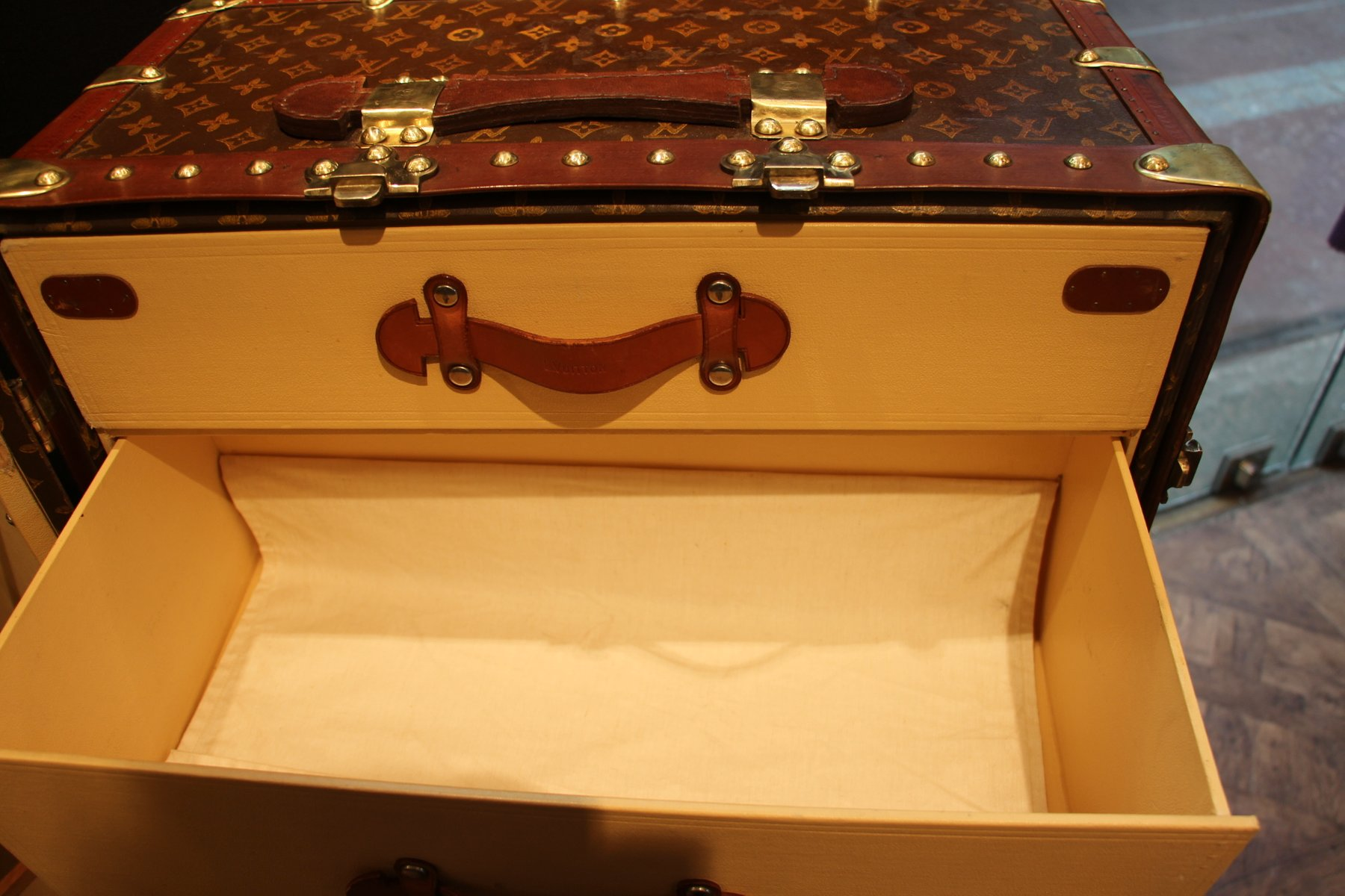 Vintage Wardrobe Steamer Trunk from Louis Vuitton for sale