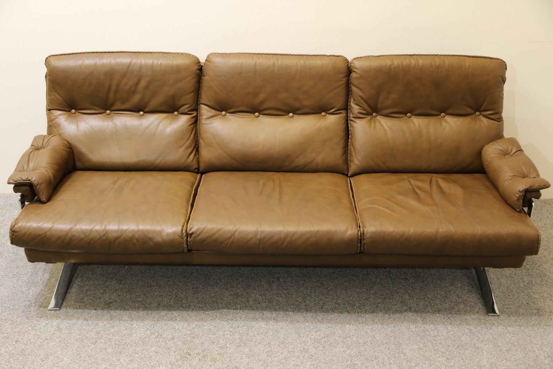 Danish Brown Buffalo Leather Sofa. Arne Norell For Sale At Pamono