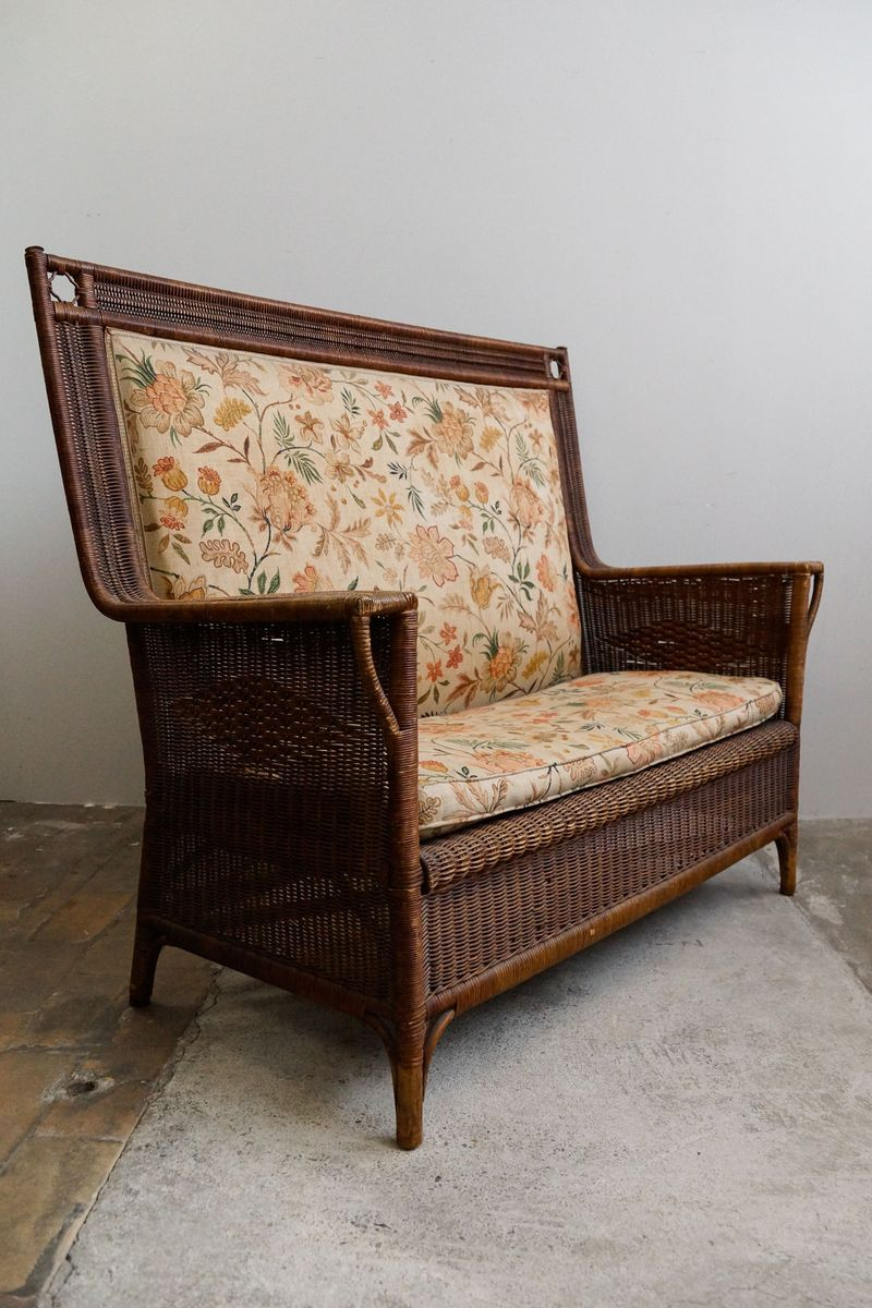 Art Nouveau 2 Seater Rattan Sofa 1910s For Sale At Pamono