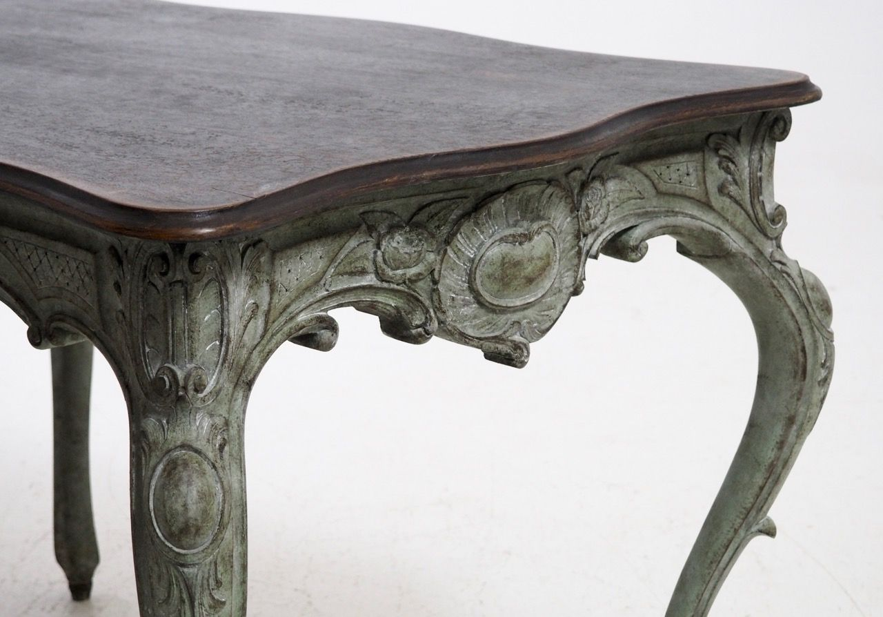 swedish freestanding carved rococo style table 1830s for. Black Bedroom Furniture Sets. Home Design Ideas