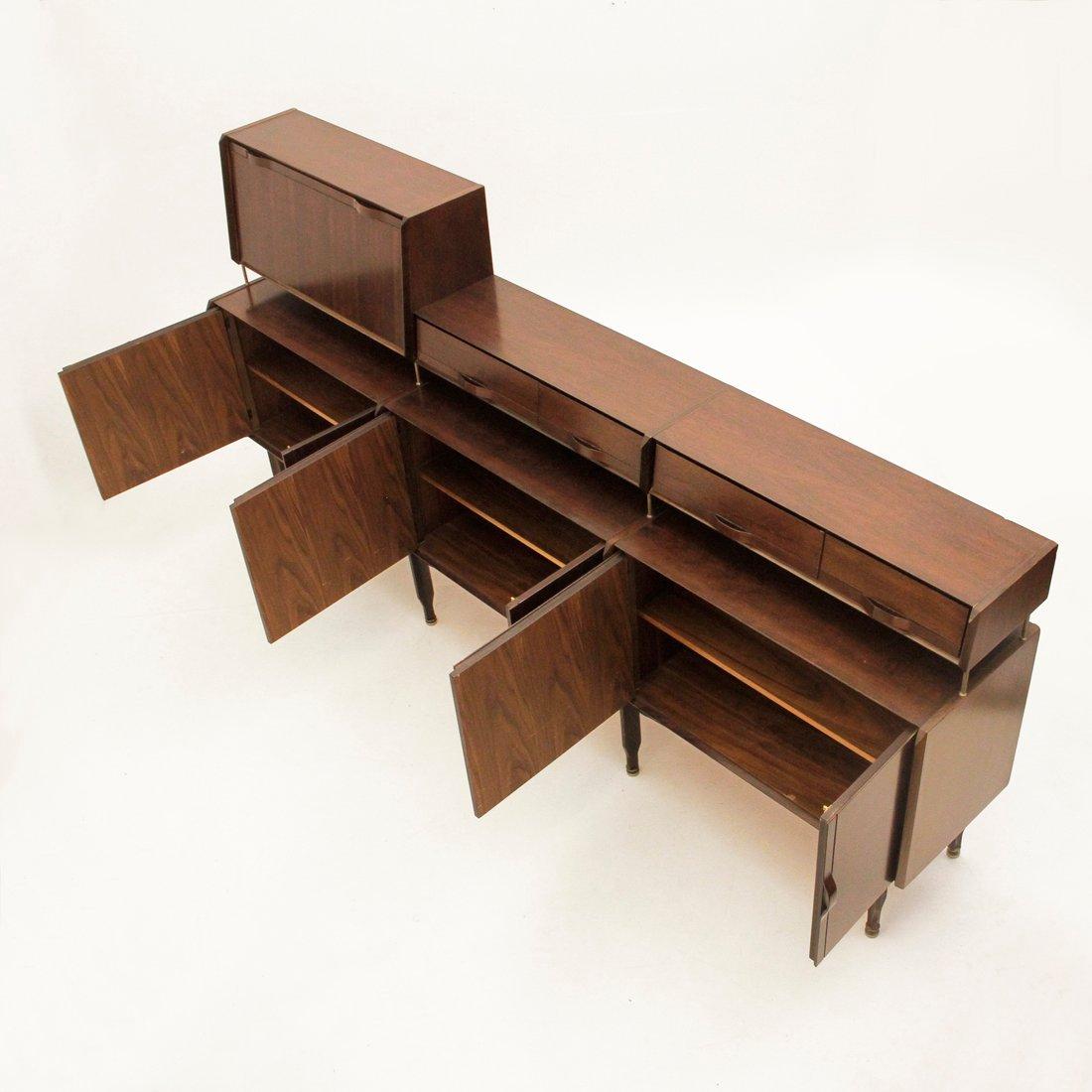 enfilade en palissandre de arosio brianza 1950s en vente. Black Bedroom Furniture Sets. Home Design Ideas