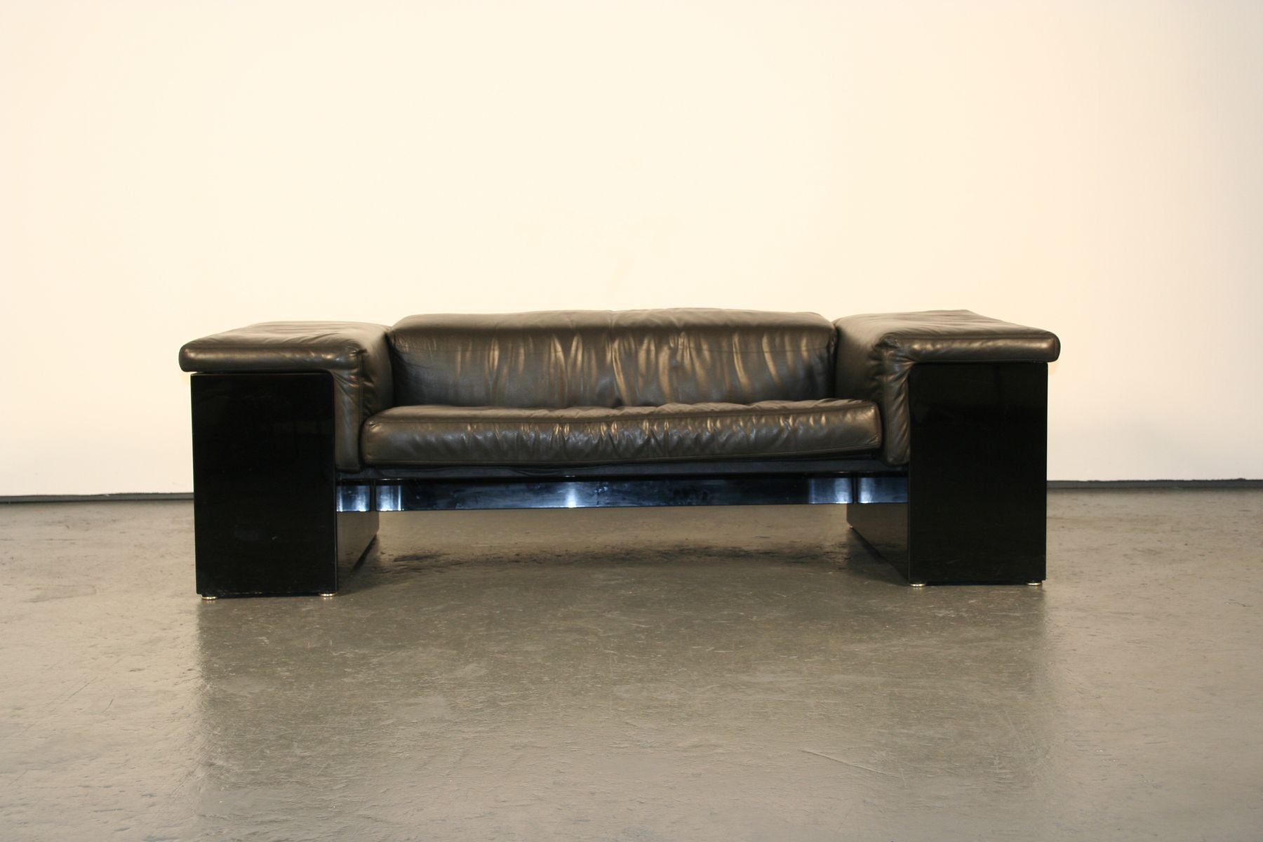 Leather Sofa By Cini Boeri For Knoll International 1970s
