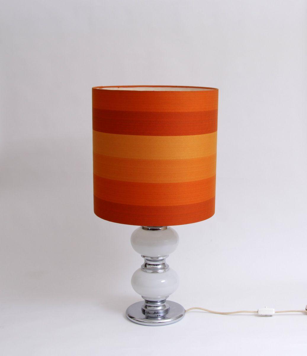 Orange floor lamp - Orange Vintage Floor Lamp With Illuminated Base