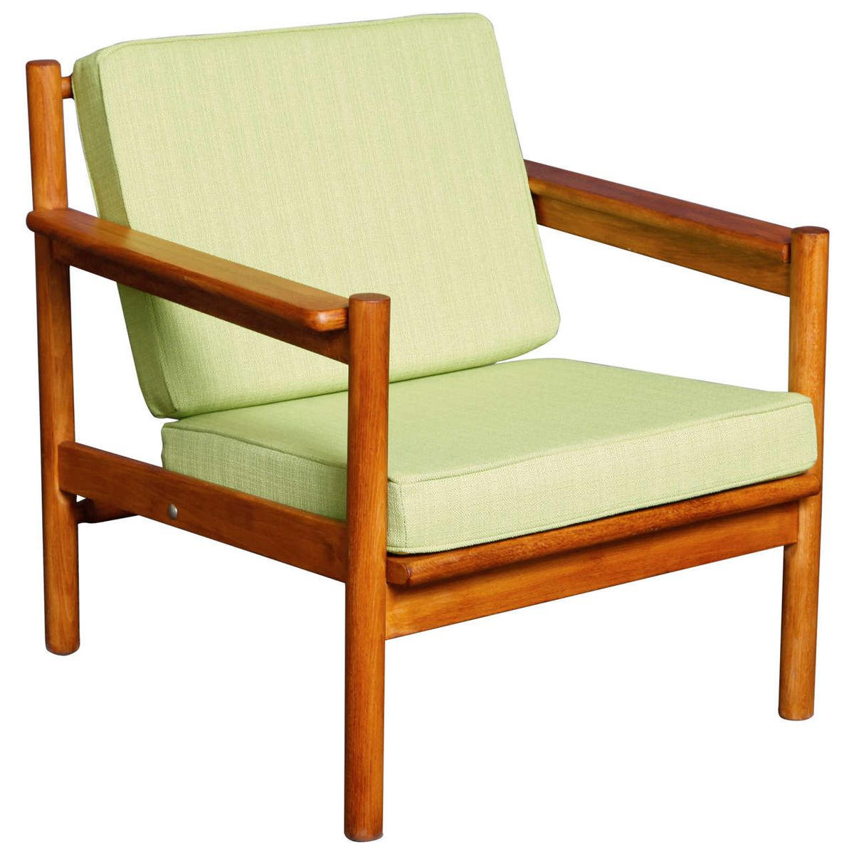 vintage scandinavian armchair in teak for sale at pamono