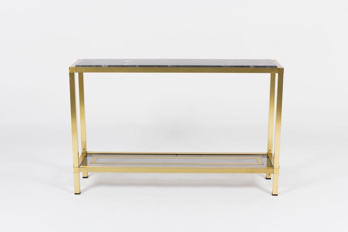 table console vintage en marbre 1950s en vente sur pamono. Black Bedroom Furniture Sets. Home Design Ideas
